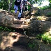 ハイキングコース岩場
